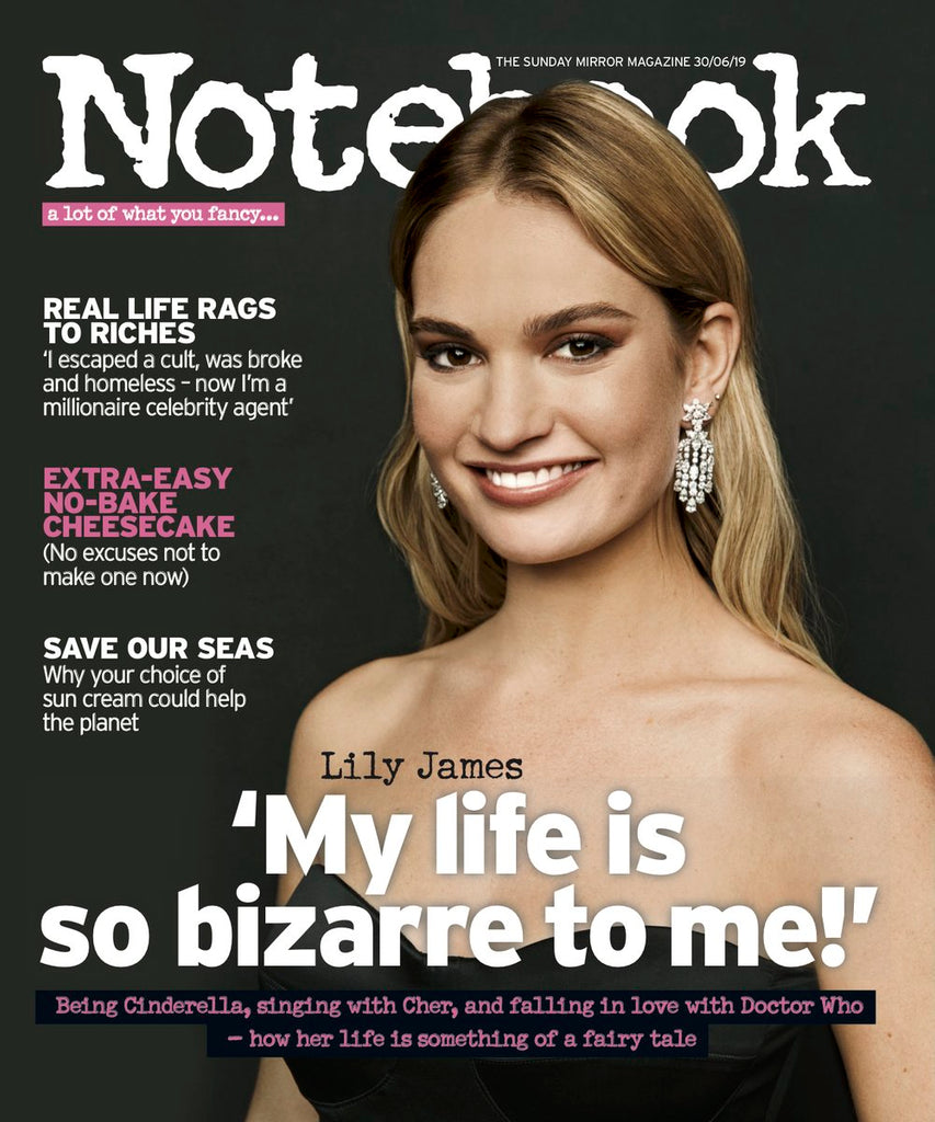 LILY JAMES Photo Cover Interview UK Notebook MAGAZINE JUNE 30th 2019