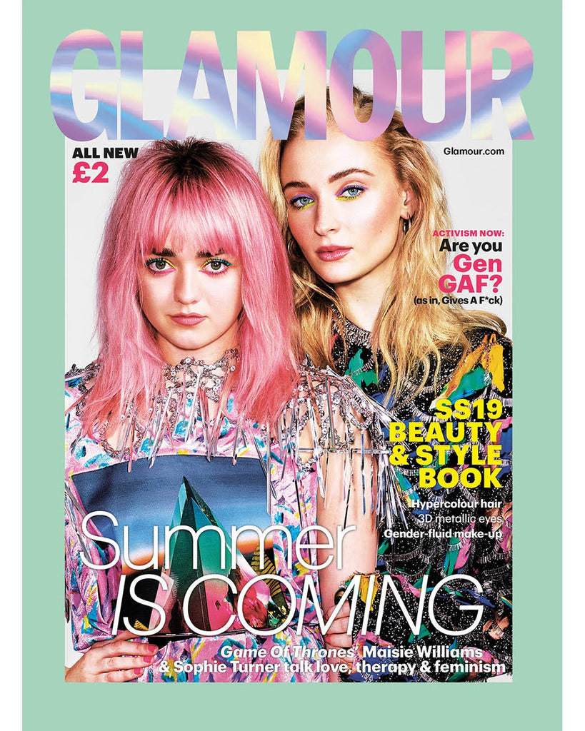 UK Glamour Magazine S/S 2019: MAISIE WILLIAMS & SOPHIE TURNER Cover #3