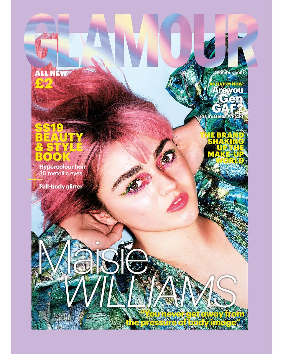 UK Glamour Magazine S/S 2019: MAISIE WILLIAMS Game of Thrones Cover #2