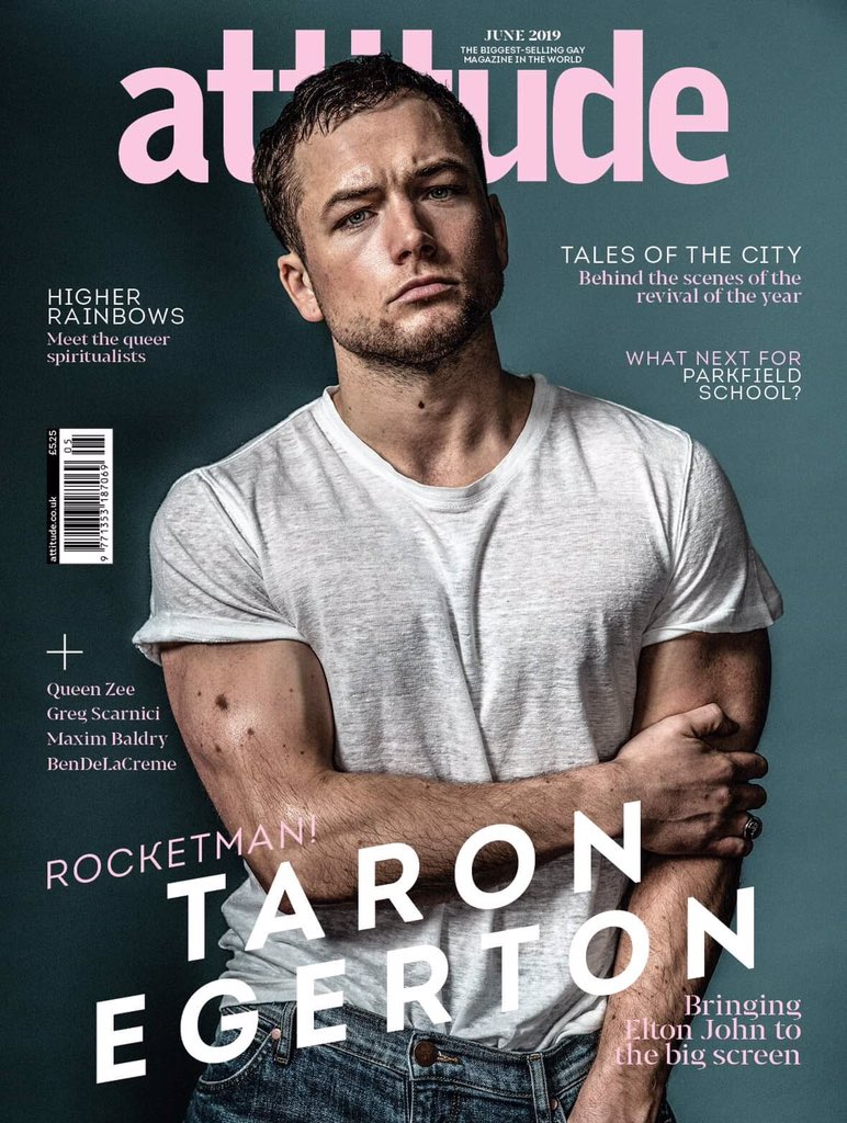 UK ATTITUDE magazine June 2019: TARON EGERTON (ROCKETMAN) COVER AND FEATURE #1