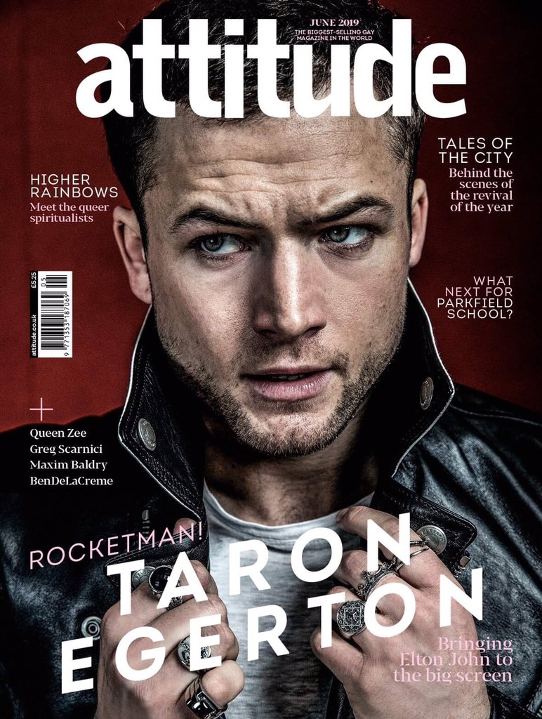 UK ATTITUDE magazine June 2019: TARON EGERTON (ROCKETMAN) COVER AND FEATURE #2