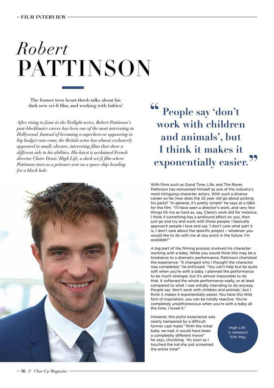 London Close UP Magazine May 2019 - Robert Pattinson