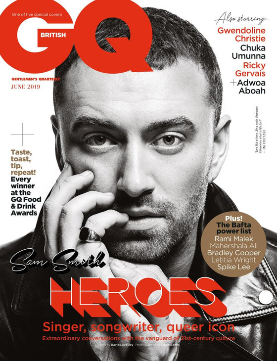 BRITISH GQ magazine June 2019 - Sam Smith cover and feature (Defective Copy)