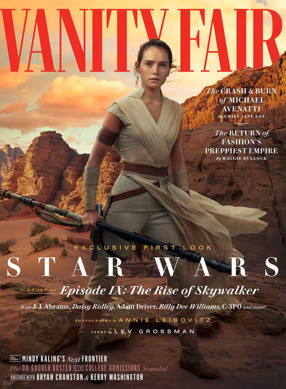 VANITY FAIR Magazine Summer 2019: Daisy Ridley as Rey (Star Wars: The Rise Of Skywalker)