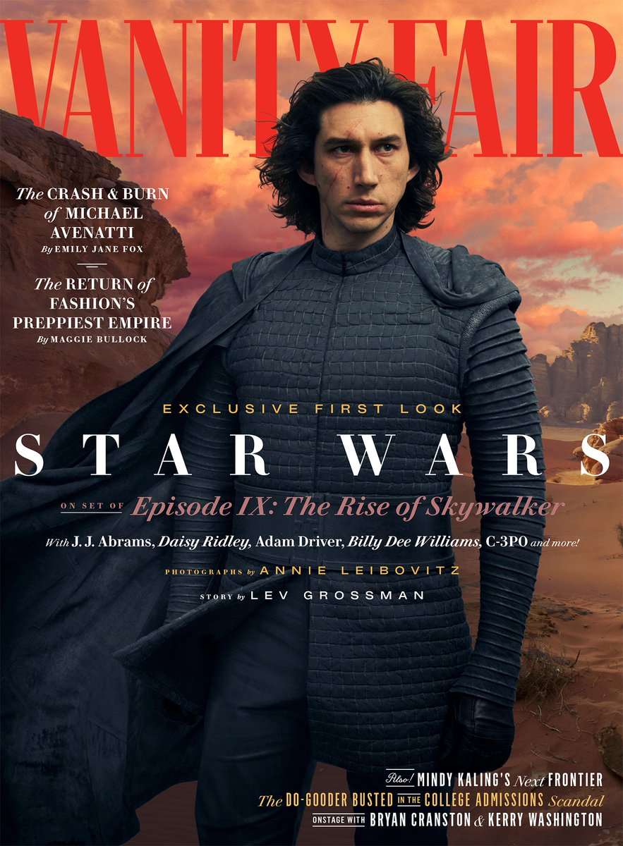 VANITY FAIR Magazine Summer 2019: Adam Driver as Kylo Ren (Star Wars: The Rise Of Skywalker)