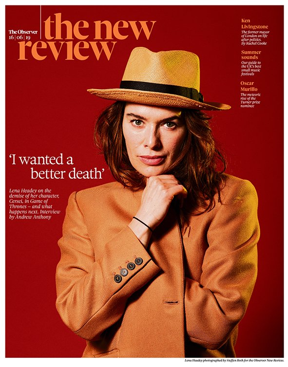 OBSERVER new review 16 June 2019 - Lena Headey Cover + exclusive interview