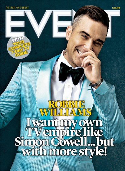 UK Event Magazine 16th June 2019: Robbie Williams Cover Interview