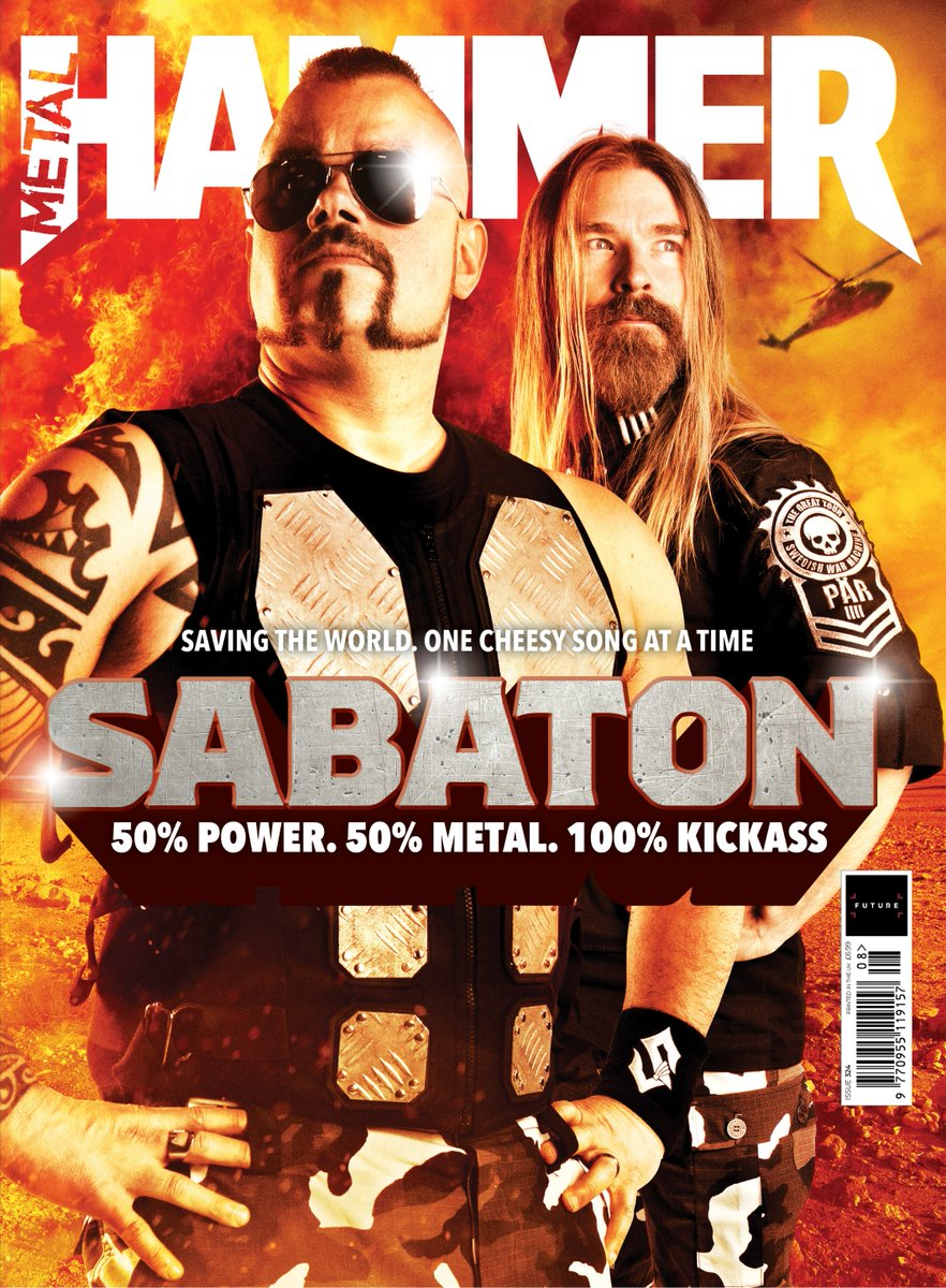 Metal Hammer Magazine August 2019: SABATON SPECIAL ISSUE + FREE TANK + STICKER PACK