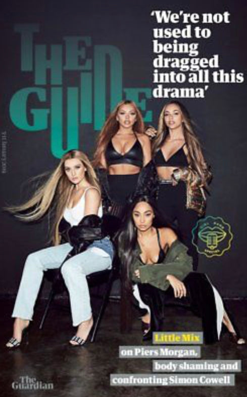 LITTLE MIX UK GUARDIAN GUIDE MAGAZINE LITTLE MIX JADE PERRIE LEIGH JESY JAN 2019