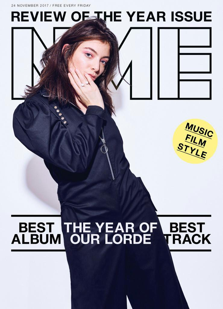 NME Magazine November 2017 - Lorde Photo Cover - Review of the Year