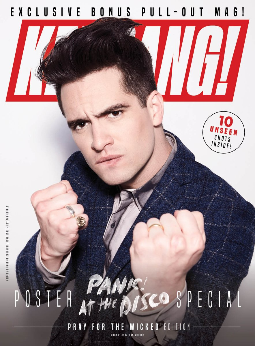 Kerrang! July 2019: Brendon Urie (Panic! At The Disco) 10 Unseen Poster Special