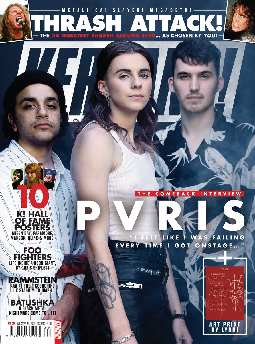 KERRANG! magazine 20 July 2019: PVRIS - Comeback Interview + Art Print - Rammstein