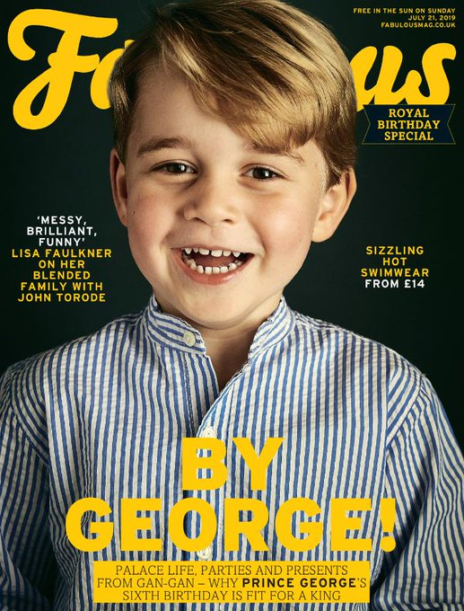 THE ROYAL FAMILY prince george Royal Baby PHOTO Fabulous Magazine Supplement
