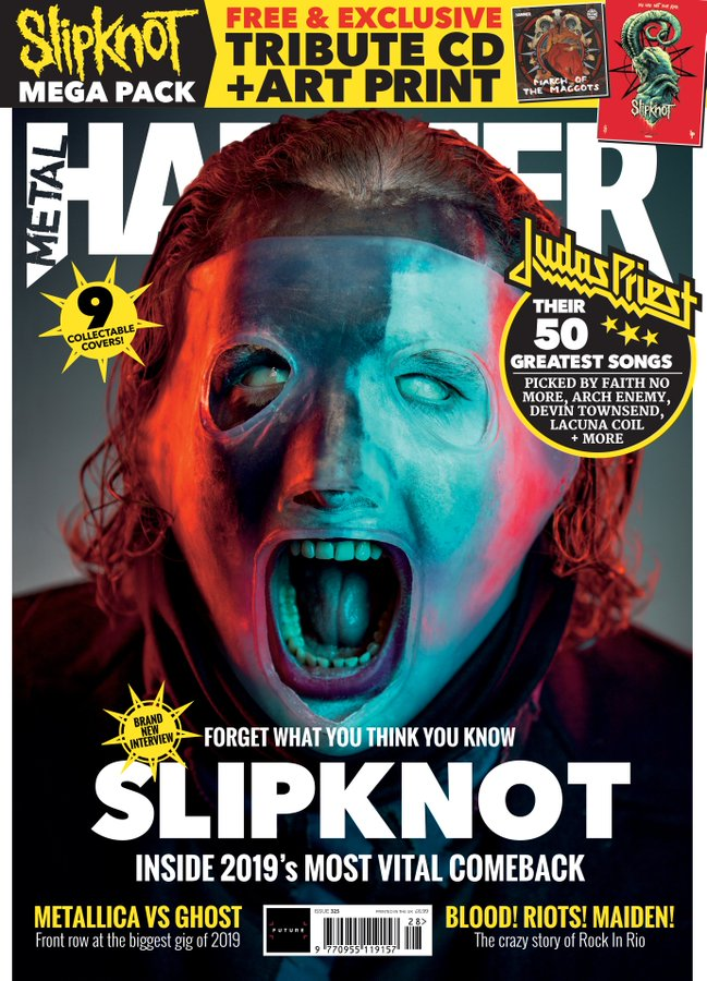METAL HAMMER Magazine Summer 2019: COREY SLIPKNOT SPECIAL COLLECTORS COVER
