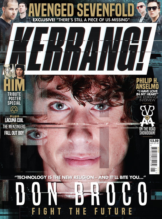 KERRANG! Feb 2018: DON BROCO Avenged Sevenfold VILLE VALO Him POSTER SPECIAL