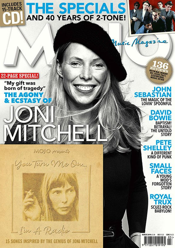 UK Mojo Magazine March 2019 JONI MITCHELL 22 Pages & You Turn Me On CD
