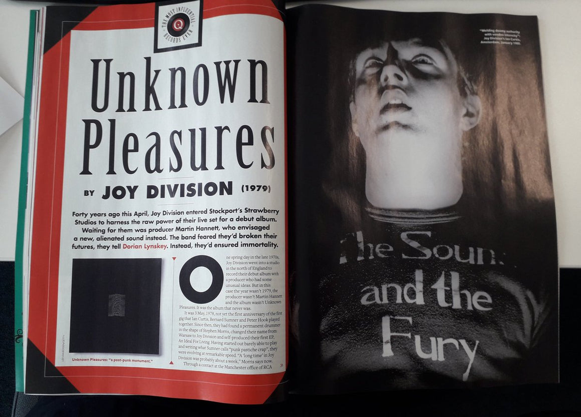 UK Q MAGAZINE - April 2019: JOY DIVISION Kate Bush SCRITTI POLITTI David Bowie