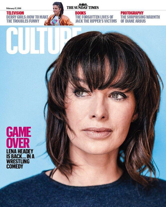 UK CULTURE Magazine FEB 2019: LENA HEADEY Gillian Anderson DIANE ARBUS Lily James