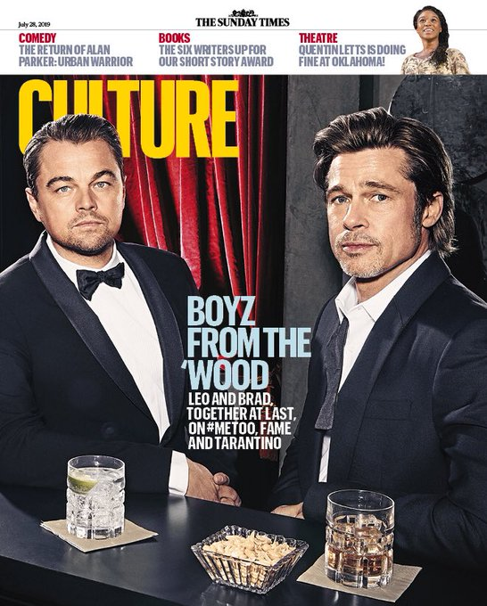 UK CULTURE Magazine 28th July 2019: LEONARDO DICAPRIO BRAD PITT QUENTIN TARANTINO
