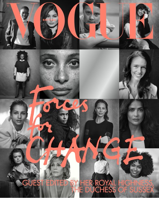 MEGHAN MARKLE GUEST EDITS - VOGUE MAGAZINE UK SEPTEMBER 2019 BRITISH EDITION (Defective Copy)