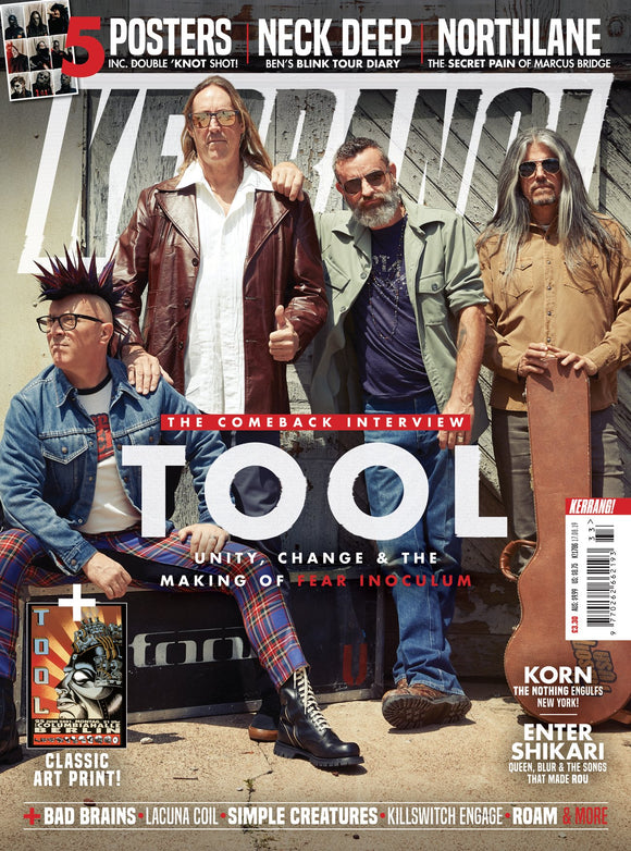 KERRANG! magazine Aug 17 2019: TOOL Comeback Interview + Art Print (Slipknot Posters)
