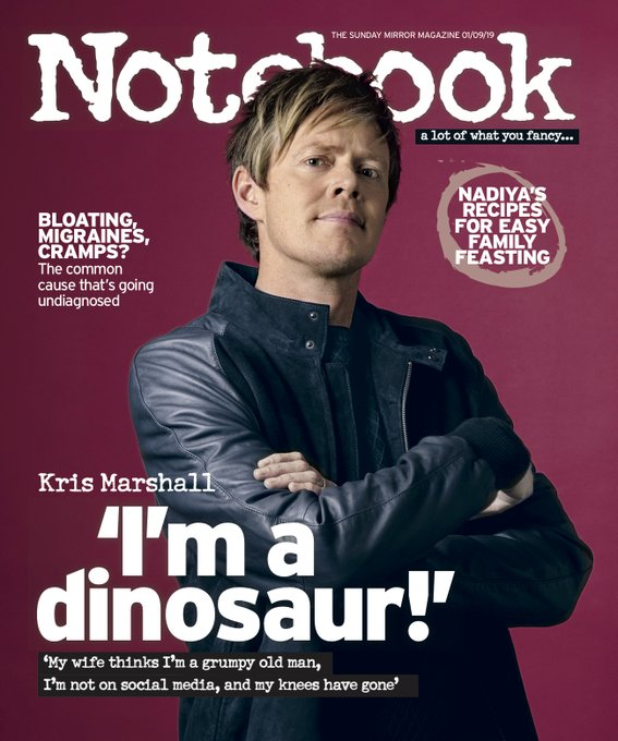 KRIS MARSHALL interview BELINDA CARLISLE UK Notebook Magazine 1 September 2019