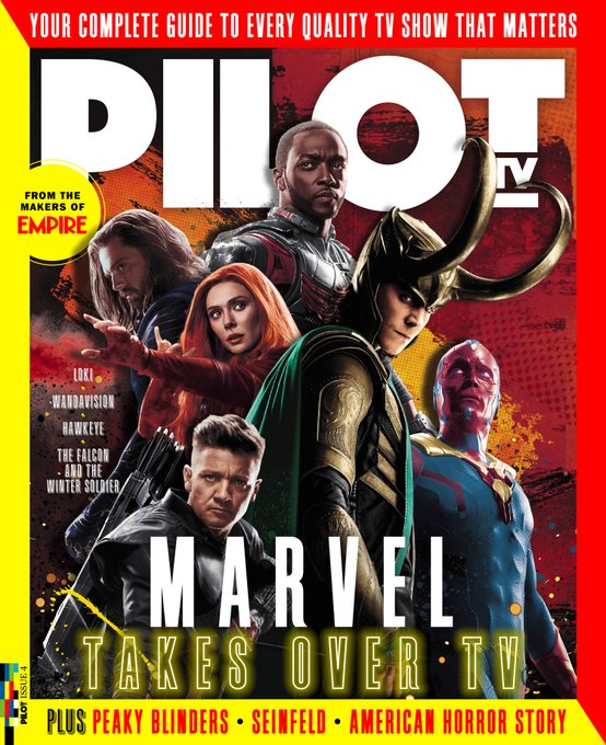 Pilot TV Magazine Issue 4: Tom Hiddleston Sebastian Stan Jeremy Renner Cillian Murphy