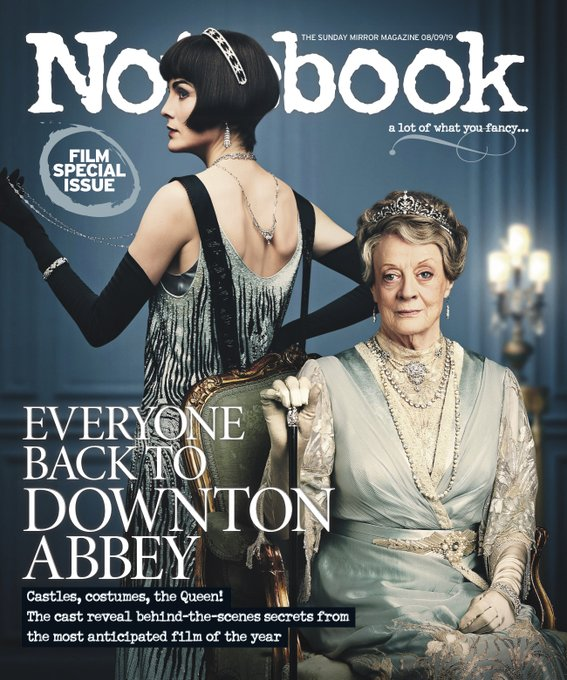 NOTEBOOK magazine 8 September 2019 Downton Abbey (Maggie Smith & Michelle Dockery)
