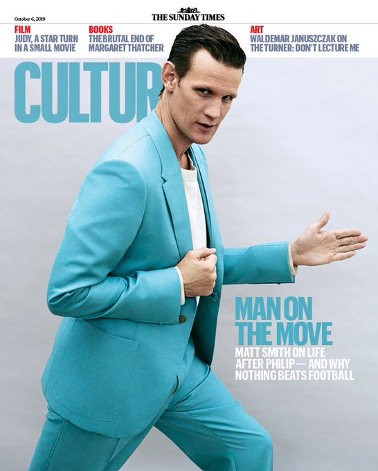 UK Sunday Times Culture Magazine October 2019: Matt Smith Cover Exclusive