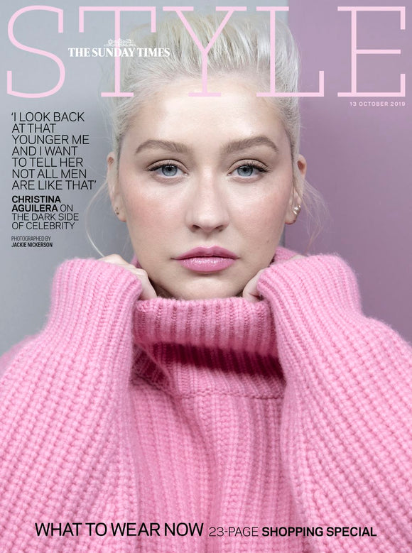 SUNDAY TIMES STYLE magazine 13 October 2019 CHRISTINA AGUILERA Cover Feature