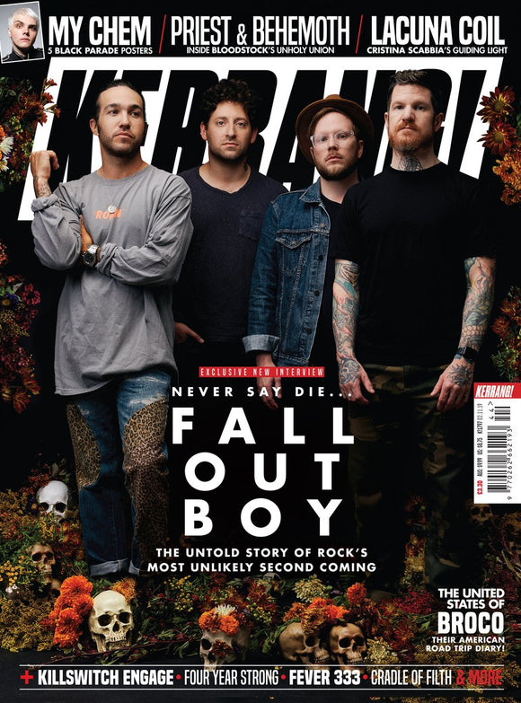 KERRANG! Mag October 2019 FALL OUT BOY interview + 5 My Chemical Romance posters