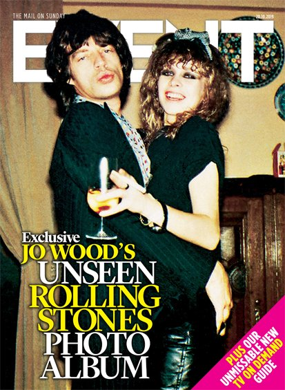 EVENT magazine 20 October 2019: JO WOOD (Ronnie) THE ROLLING STONES PHOTO ALBUM