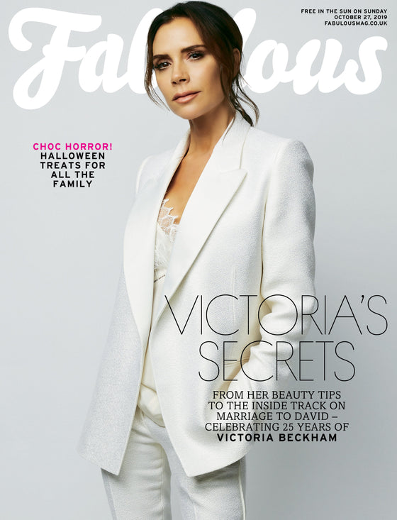 UK Fabulous Magazine 27 October 2019 VICTORIA BECKHAM COVER FEATURE Spice Girls