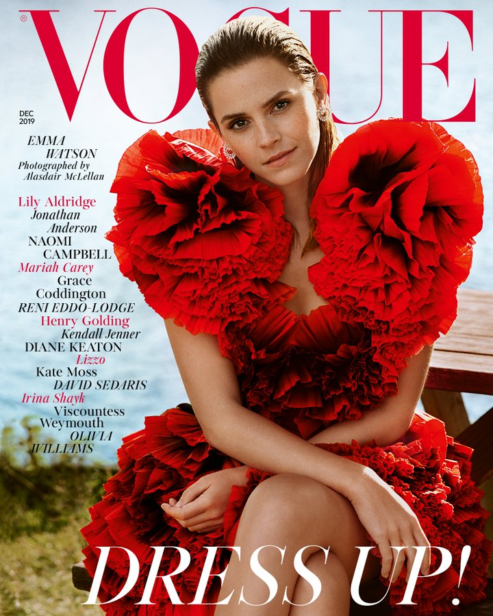 British Vogue Magazine December 2019: Emma Watson Cover
