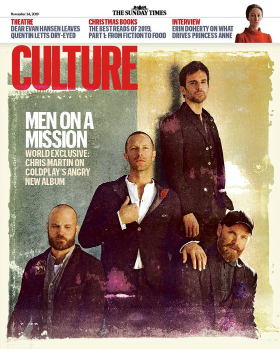UK Culture Magazine  24th November 2019: Coldplay World Exclusive Cover Interview