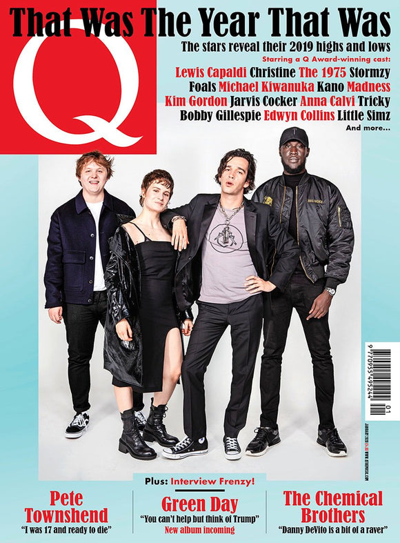 MATT HEALY (The 1975) COVER UK Q MAGAZINE JAN 2020 - Christine Pete Townshend