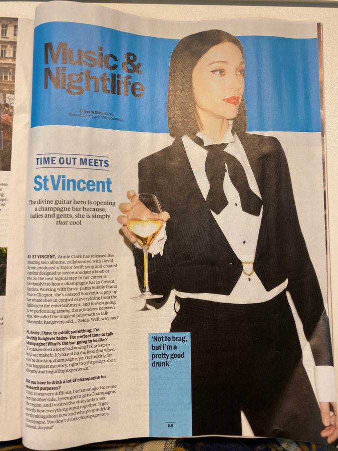 TIME OUT, London November 19 - November 25 2019 St Vincent