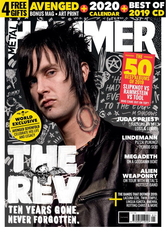 UK Metal Hammer Magazine Jan 2020: THE REV Rammstein + 2020 Calendar Featuring Ghost