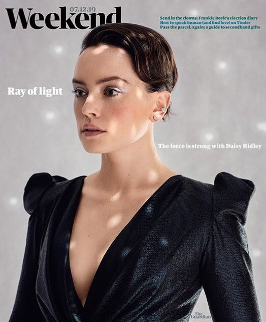 UK Guardian Weekend December 2019: DAISY RIDLEY Star Wars Cover