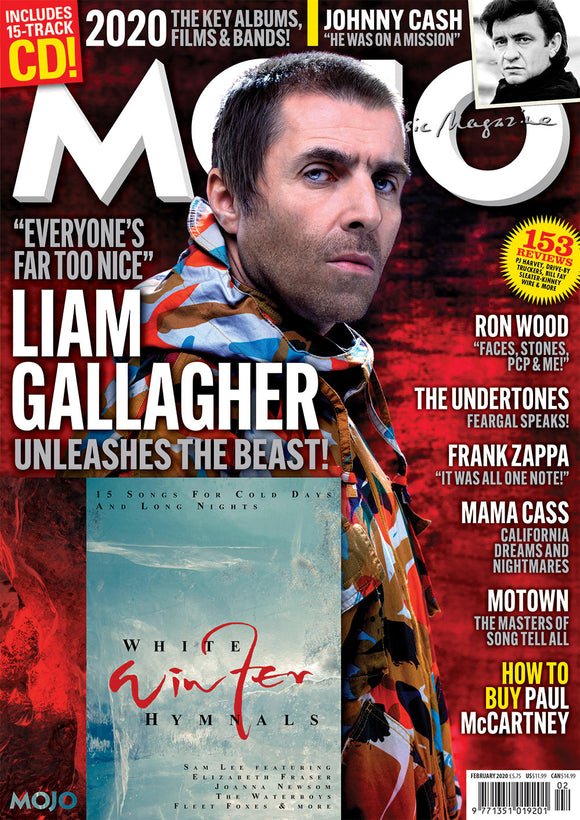 UK Mojo Magazine Feb 2020: LIAM GALLAGHER Oasis + FREE CD - RONNIE WOOD Motown