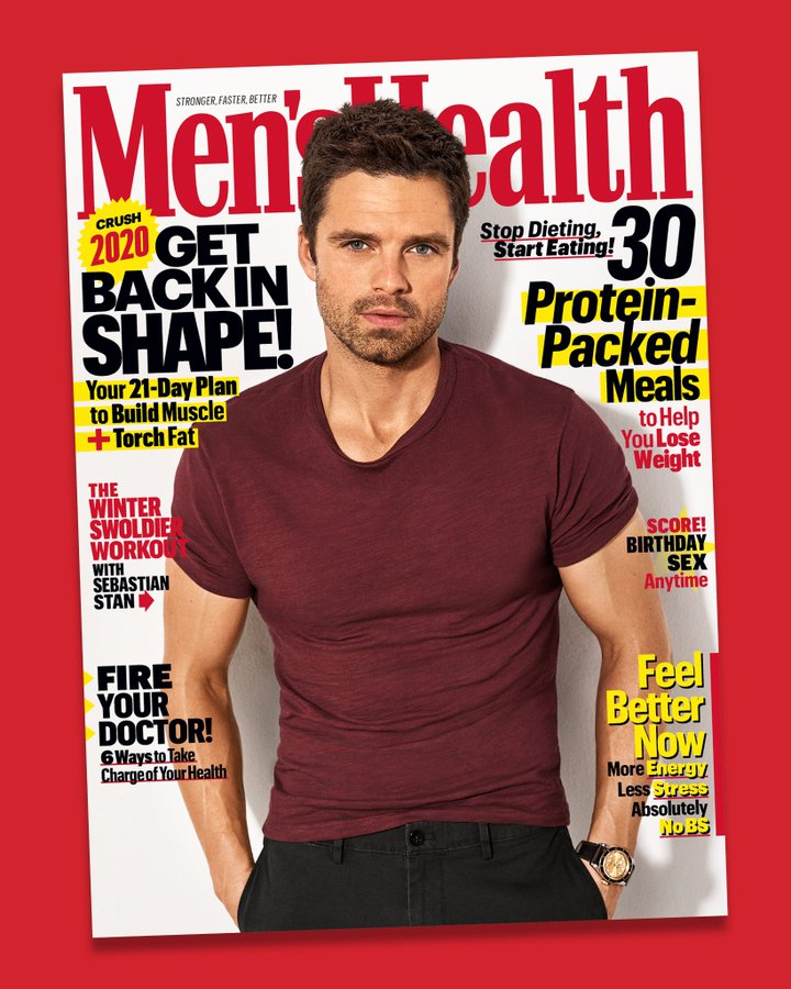 US Men's Health Magazine Jan/Feb 2020: Sebastian Stan Cover