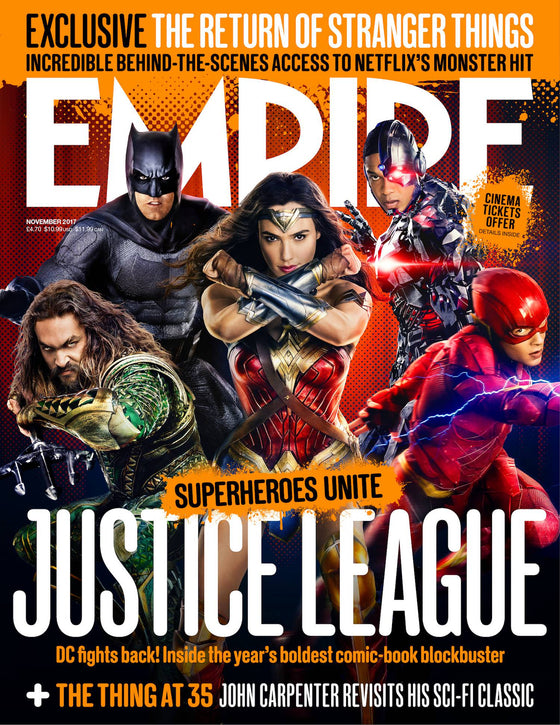 Justice League Empire Magazine Cover November 2017