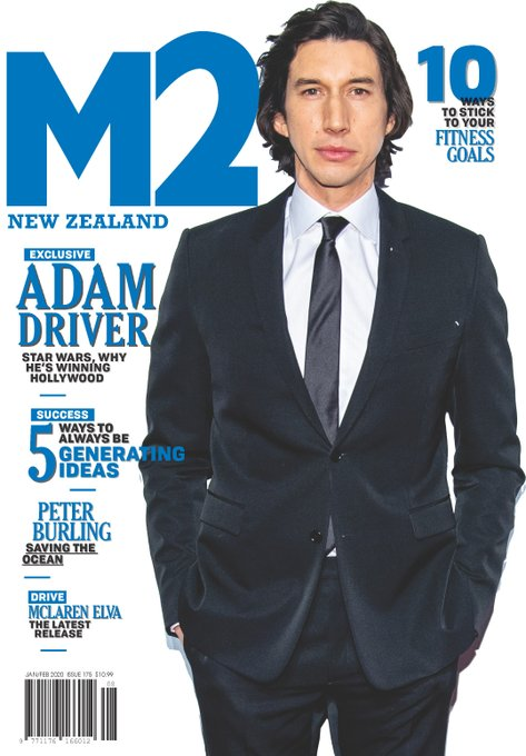 M2 New Zealand Magazine 2020 Adam Driver Cover Interview