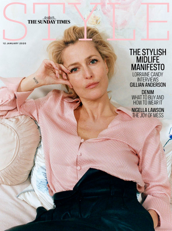STYLE magazine 12 January 2020 Gillian Anderson cover and interview