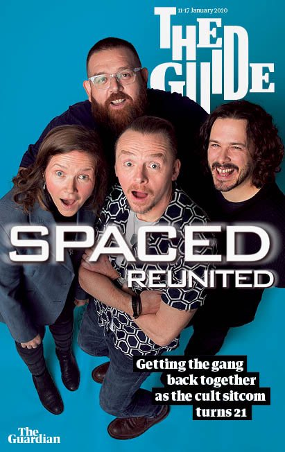 SPACED REUNION - SIMON PEGG - GUARDIAN GUIDE MAGAZINE UK JANUARY 2020 NEW