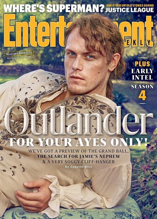 OUTLANDER JAMIE FRASER EXCLUSIVE SAM HEUGHAN ENTERTAINMENT WEEKLY NOVEMBER 2017