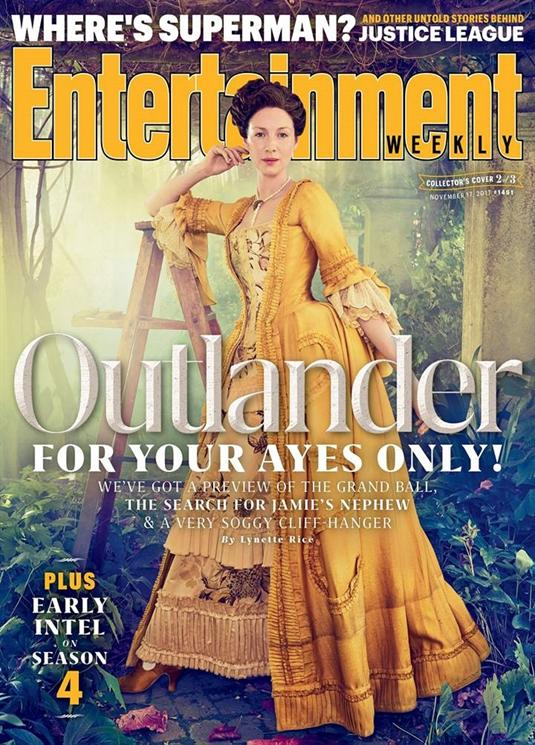 OUTLANDER EXCLUSIVE CAITRIONA BALFE SAM HEUGHAN ENTERTAINMENT WEEKLY NOVEMBER 2017