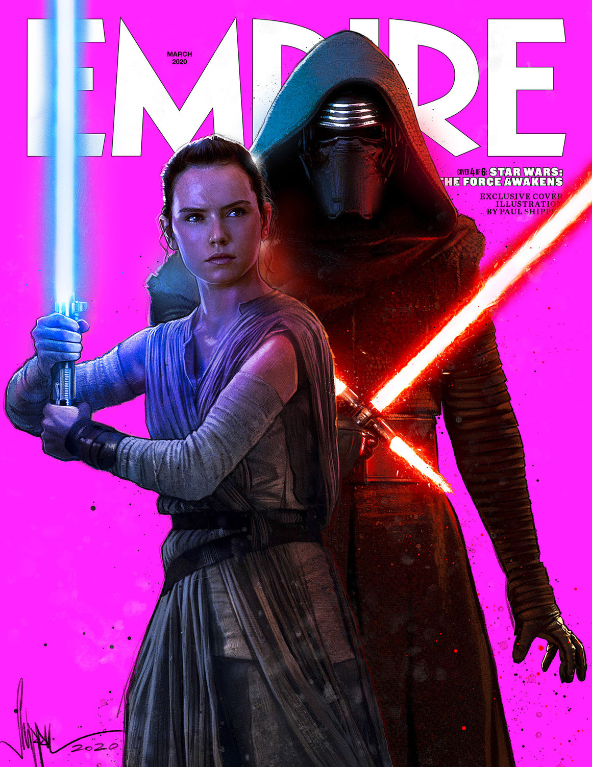 Empire March 2020: STAR WARS: Force Awakens - Cover #4 REY & KYLO REN (Adam Driver + Daisy Ridley)
