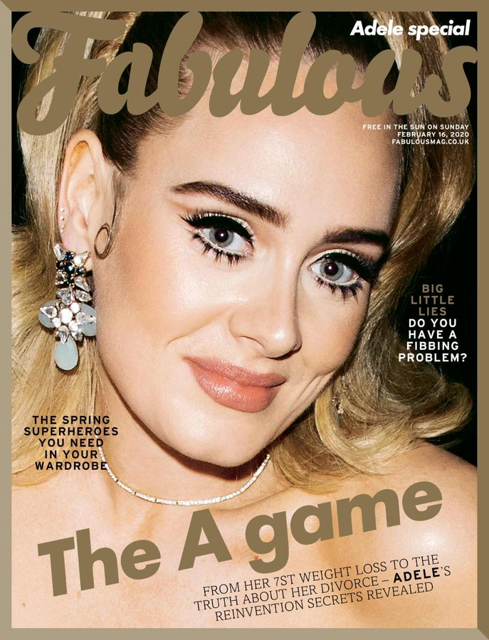 UK Fabulous Magazine February 2020: ADELE PHOTO COVER FEATURE