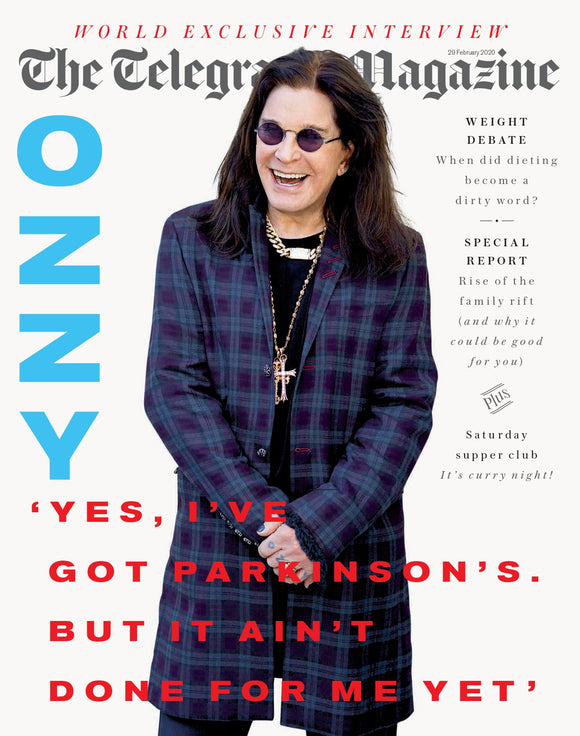 UK Telegraph Magazine February 29th 2020: Ozzy Osbourne Interview
